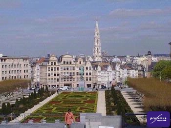 Zicht op Brussel, vanaf de Kunstberg