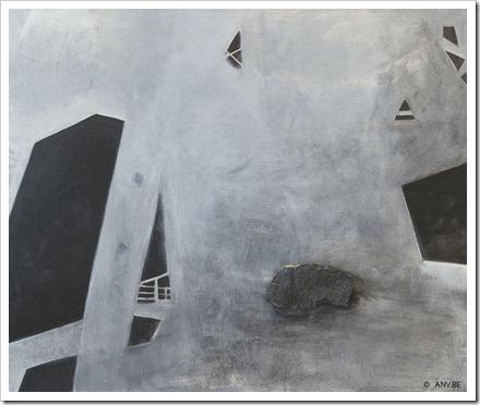 X8 (beringen) - Acryl op doek - 120x100 cm - An Vanderlinden - www.anv.be