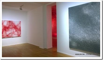 Chiharu Shiota in Galerie Templon Paris