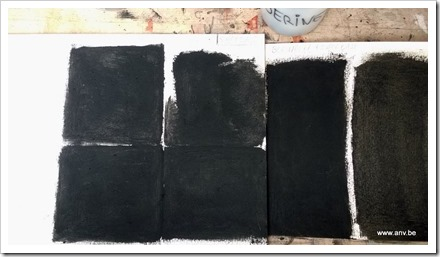 Blackest coalpaint tests by An Vanderlinden