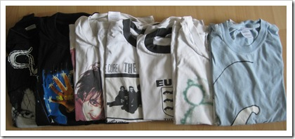 Cure t-shirts