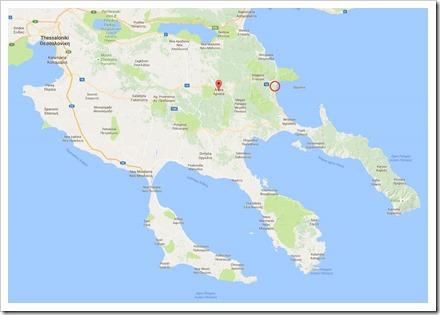 overzichtskaart Halkidiki