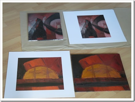 photo of the reproductions nexts to the original paintings - anv.be
