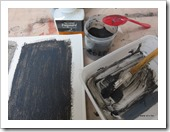 black paint tests with coal - anv