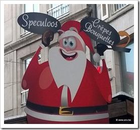 gekke bekken trekkende kerstman
