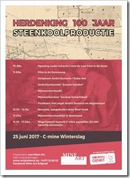 Herdenking 100 jaar steenkoolproductie - uitnodiging