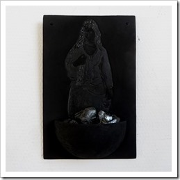 The blackest black acrylic paint on ceramic - Black 2.0 and coal - anv.be