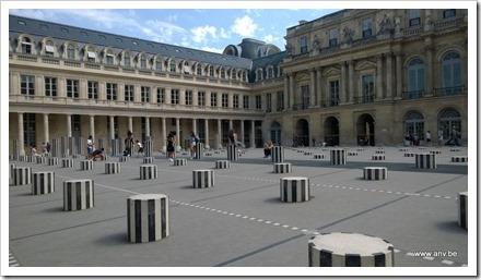 Palais Royale - Les collonnes de Daniel Buren