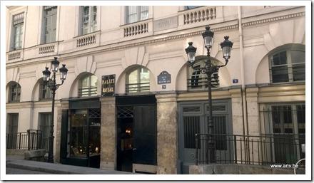 Palais Royale Paris - ingang achterzijde