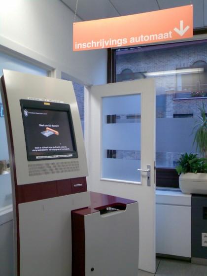 Inschrijvingsautomaat in UZL