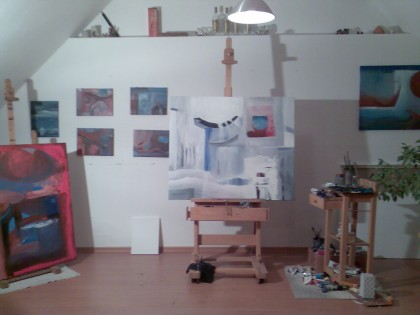 atelier foto, werken in opbouw