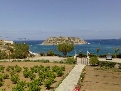 uitzicht vanuit Mochlos Mare Appartement
