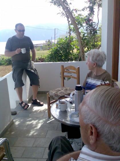 Ontbijt in Mochlos Mare