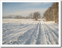 20 december - winterlandschap naast autostrade