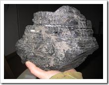 blok zelf bovengehaalde steenkool