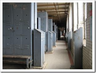 Koolmijn Beringen - omkleedruimte / kastjes voor de kledij
