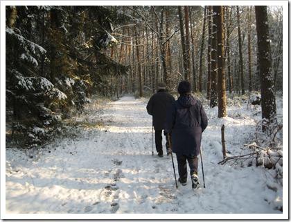 moeke en papa in de sneeuw