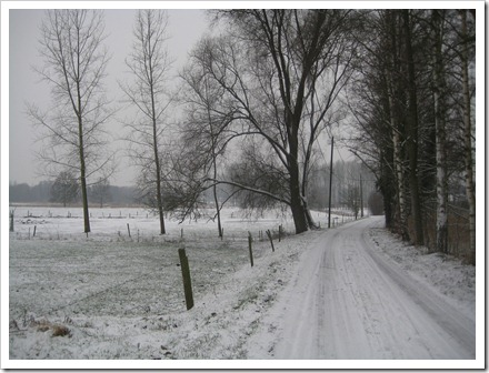 Sneeuw in Wimmertingen
