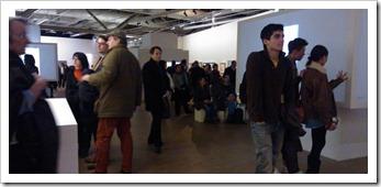 bezoekers tentoonstelling Dali, om 21u30 ...