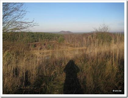Schaduw-selfie op de Mechelse Heide