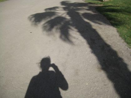 schaduw-selfie AnV in Malaga