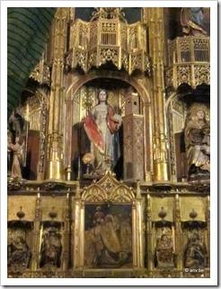 Gotisch beeld van Sint-Barbara in de Kathedraal van Malaga