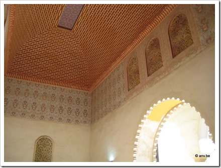 prachtig plafond in Alcazaba