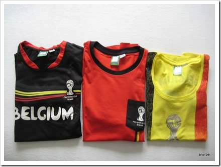 t-shirts Belgium WK2014