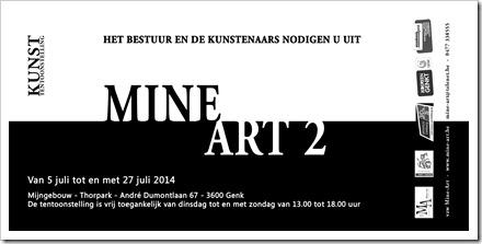 Uitnodiging MINE ART 2