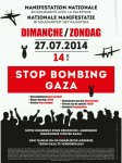 Affiche betoging STOP BOMBING GAZA