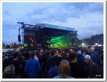 Queens of the stone Age op Pukkelpop, 18 seconden voor het begin van het concert