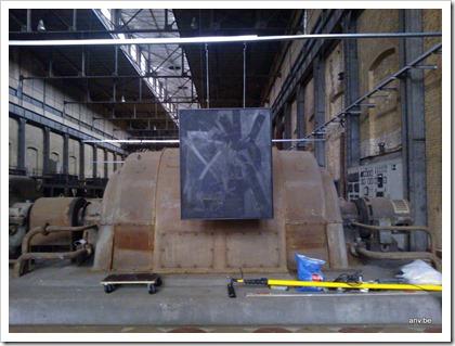 schilderij van AnV in de voormalige electriciteitscentrale van Beringen-Mijn
