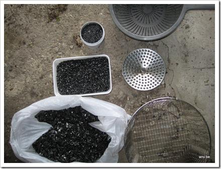 verschillende steenkool formaten om een werk mee te maken