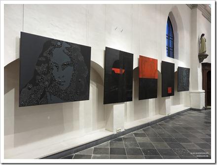"""06 tentoonstelling """" St.-Barbara """" schilderijen en keramiek van An Vanderlinden"""