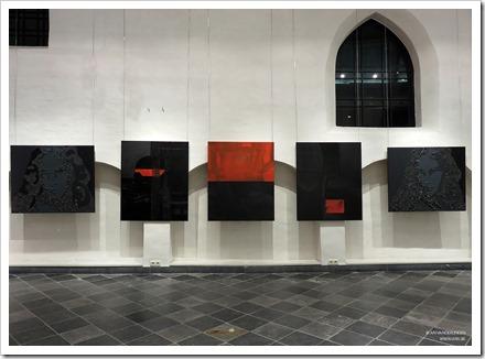 """07 tentoonstelling """" St.-Barbara """" schilderijen en keramiek van An Vanderlinden"""