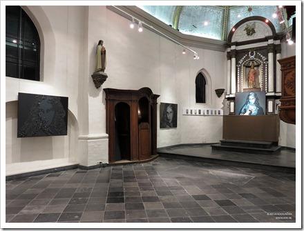 """08 tentoonstelling """" St.-Barbara """" schilderijen en keramiek van An Vanderlinden"""