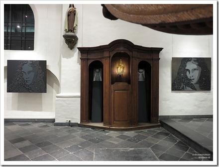 """09 tentoonstelling """" St.-Barbara """" schilderijen en keramiek van An Vanderlinden"""