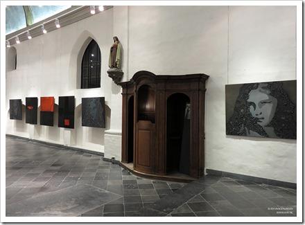 """18 tentoonstelling """" St.-Barbara """" schilderijen en keramiek van An Vanderlinden"""