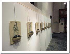 """19 tentoonstelling """" St.-Barbara """" schilderijen en keramiek van An Vanderlinden"""