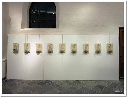 """20 tentoonstelling """" St.-Barbara """" schilderijen en keramiek van An Vanderlinden"""