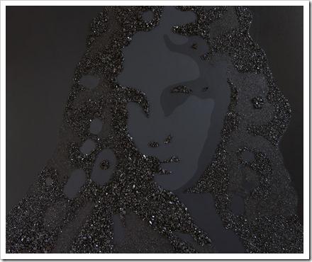 St.-Barbara (V2) acrylverf en steenkool op doek, 1m20 x 1m © An Vanderlinden