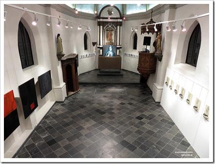 """22 tentoonstelling """" St.-Barbara """" schilderijen en keramiek van An Vanderlinden"""
