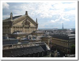 Parijs, zicht vanaf het dak van Gallerie Lafayette