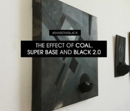 Video : Het effect van steenkool, Super Base en Black 2.0 in een schilderij