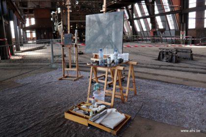 Schilderijen AnV in mijngebouw Beringen - 6 april 2017