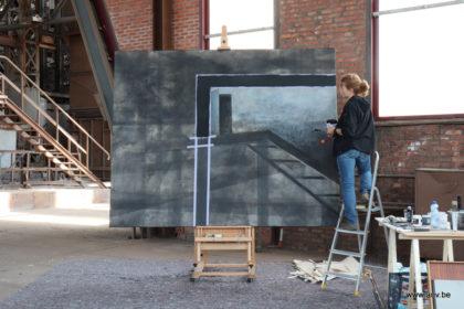 AnV schilderij CD3 in opbouw