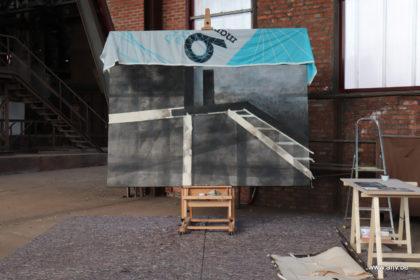 bescherming schilderij met Manifesta vlaggen