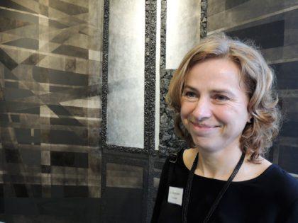 An Vanderlinden op opening tentoonstelling Charbon de Beringen